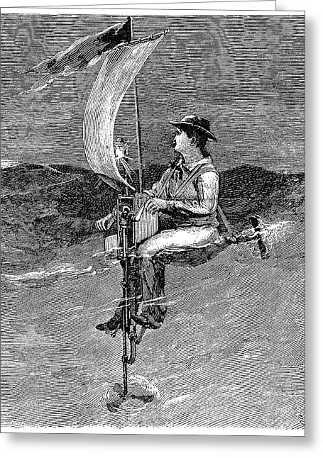 Single Seater Greeting Cards - Mechanical Buoy, 19th Century Greeting Card by