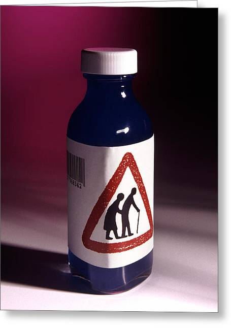 Medication Photographs Greeting Cards - Medication For The Elderly Greeting Card by Victor De Schwanberg