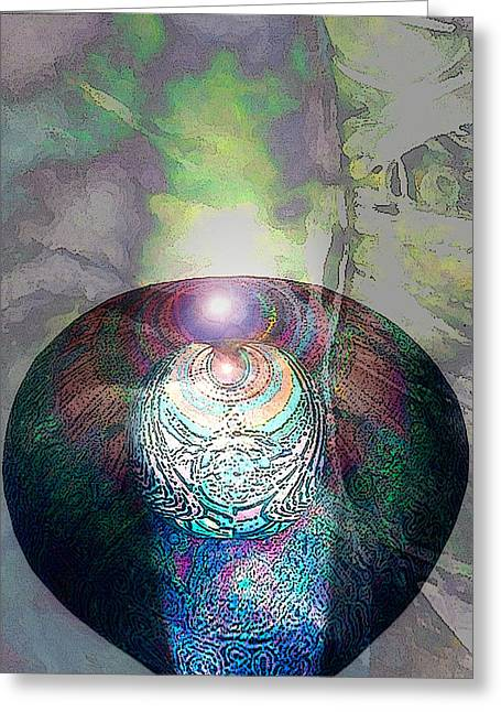 Visionary Artist Greeting Cards - Medicine Bowl Greeting Card by George  Page