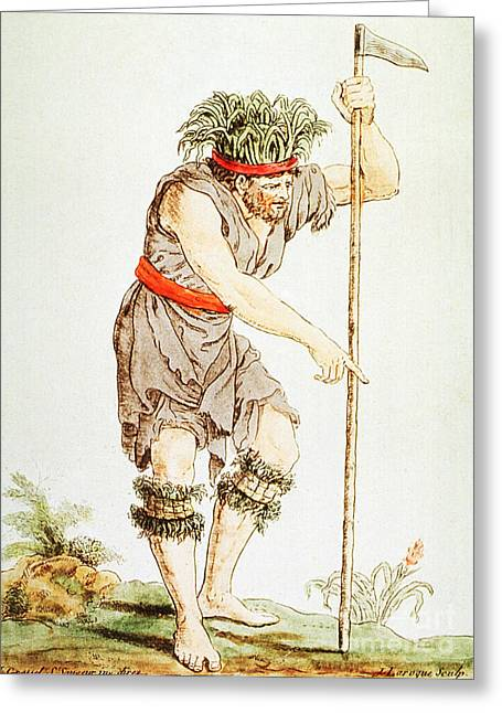 Outfit Greeting Cards - Medicine Man, Tierra Del Fuego, 18th Greeting Card by Science Source
