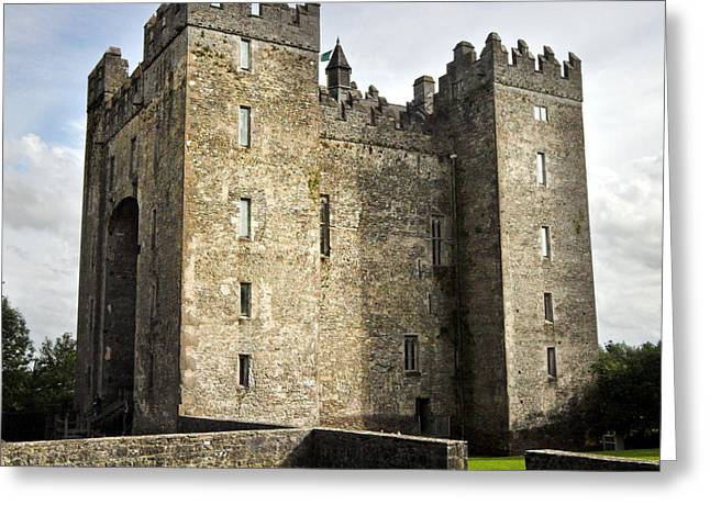 Limerick Greeting Cards - Medieval Bunraty Castle Ireland Greeting Card by Pierre Leclerc Photography