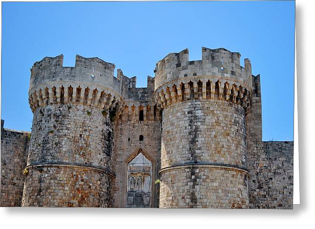 Medieval fortress of Rhodes. Greeting Card by Fernando Barozza