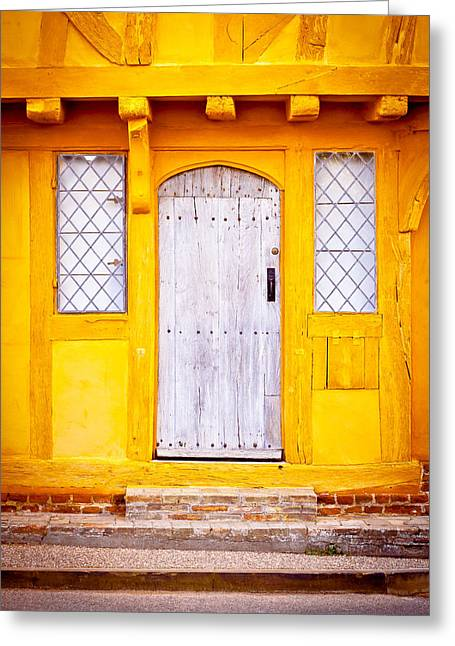 Medieval Entrance Photographs Greeting Cards - Medieval house Greeting Card by Tom Gowanlock