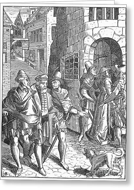 Guard Dog Greeting Cards - Medieval Prison, 1557 Greeting Card by Granger