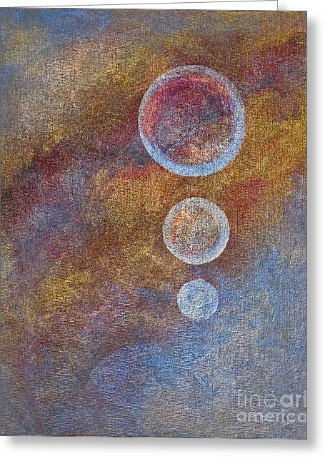 Religious Mixed Media Greeting Cards - Meditation 18 Greeting Card by Ellen Miffitt