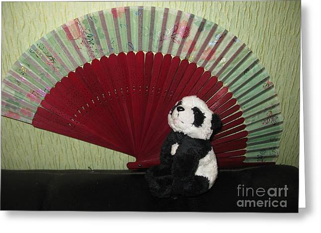 Ying Greeting Cards - Meditation hour Greeting Card by Ausra Paulauskaite