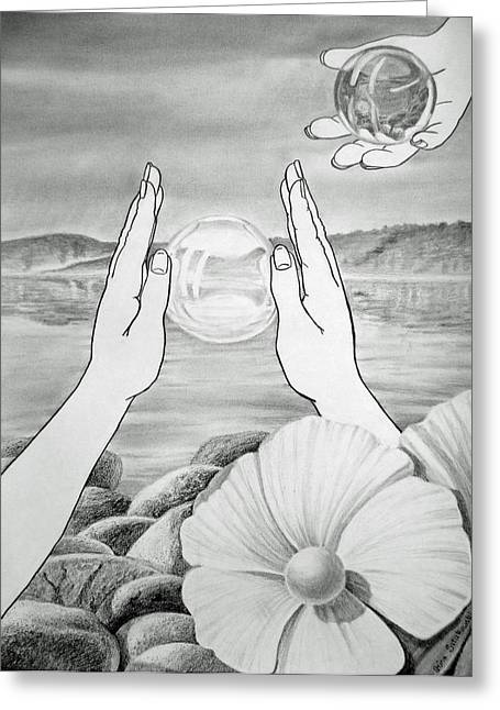 Rocks Drawings Greeting Cards - Meditation  Greeting Card by Irina Sztukowski