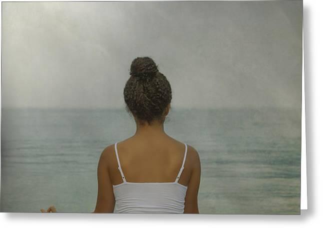 meditation Greeting Card by Joana Kruse