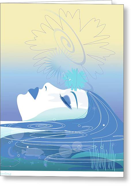 Evolved Greeting Cards - Meditation Greeting Card by Lisa Henderling