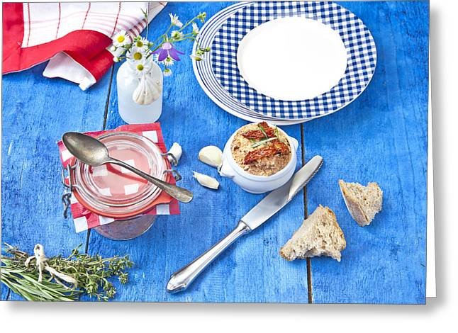 Artichoke Greeting Cards - Mediterranean Spreads Greeting Card by Joana Kruse