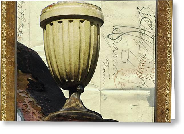 Mediterranean Urn Greeting Card by AdSpice Studios