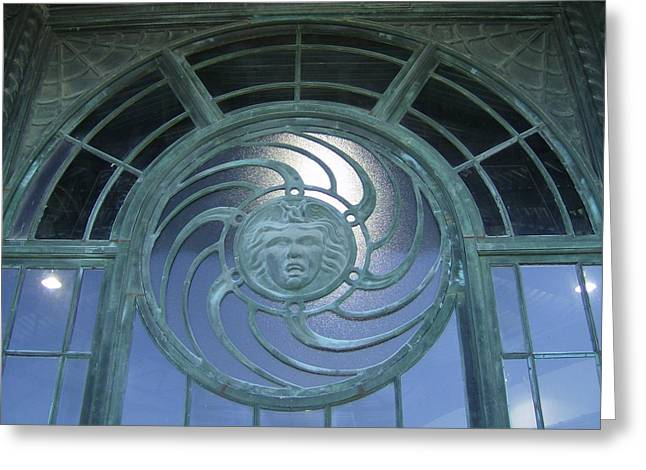 Medusa Window Greeting Cards - Medusa Greeting Card by Brian Degnon