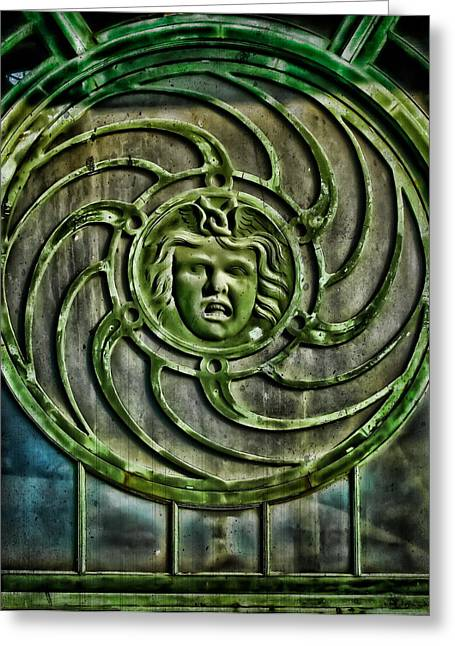 Medusa Window Greeting Cards - Medusa Greeting Card by Colleen Kammerer