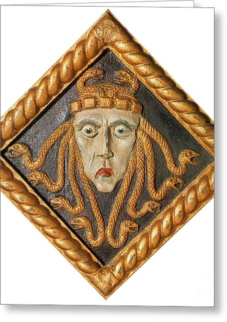 Medusa Greeting Card by Photo Researchers
