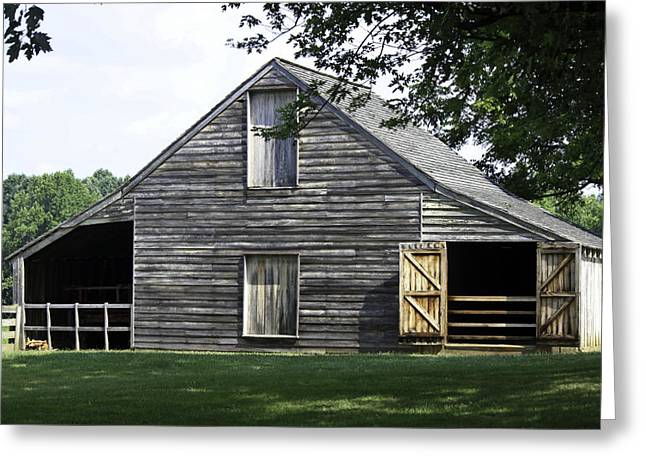 Richmond-lynchburg Stage Road Greeting Cards - Meeks Stable Greeting Card by Teresa Mucha