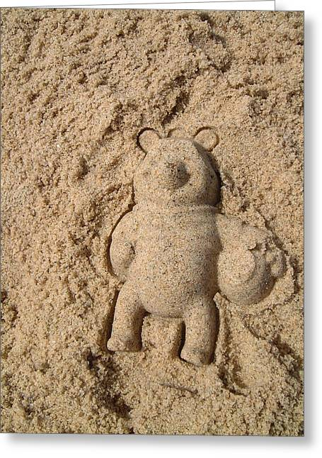 Cape Cod Mass Greeting Cards - Meet Sandy The Bear Greeting Card by Sven Migot