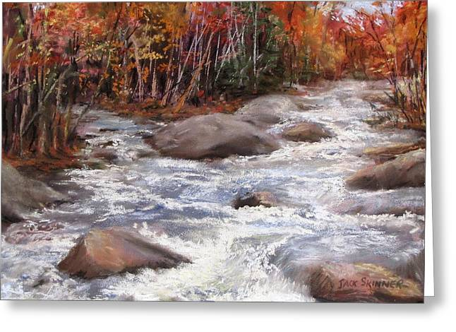 Brook Pastels Greeting Cards - Meeting of the Waters Greeting Card by Jack Skinner
