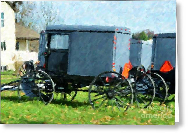 Amish Greeting Cards - Meeting Place Greeting Card by Debbi Granruth