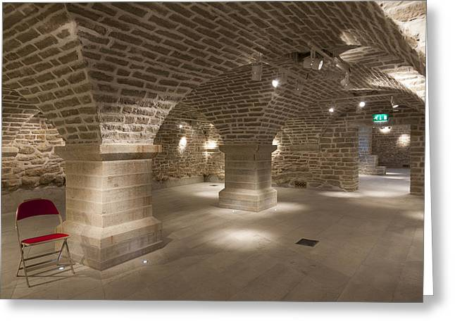 Basement Greeting Cards - Meeting Rooms Vaulted Ceilings Greeting Card by Jaak Nilson