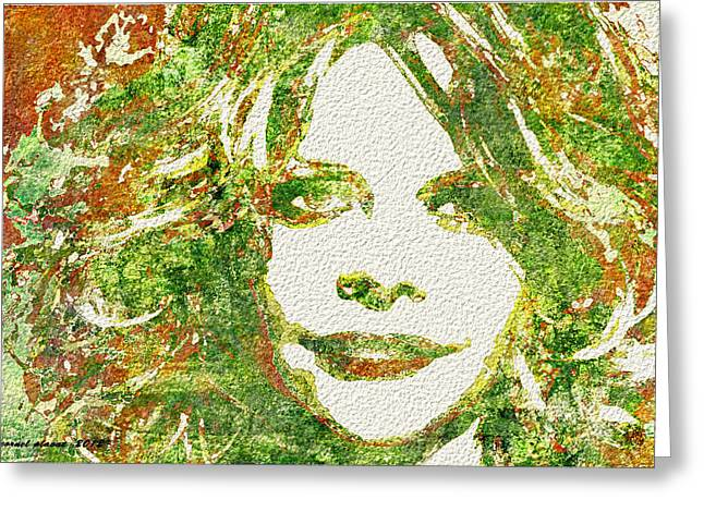 Meg Greeting Cards - Meg Ryan II Greeting Card by Cornel Plavat
