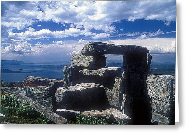 Megalithic View Greeting Card by Andonis Katanos