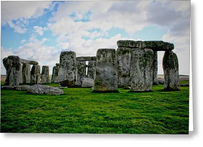 Megaliths Greeting Card by Heather Applegate