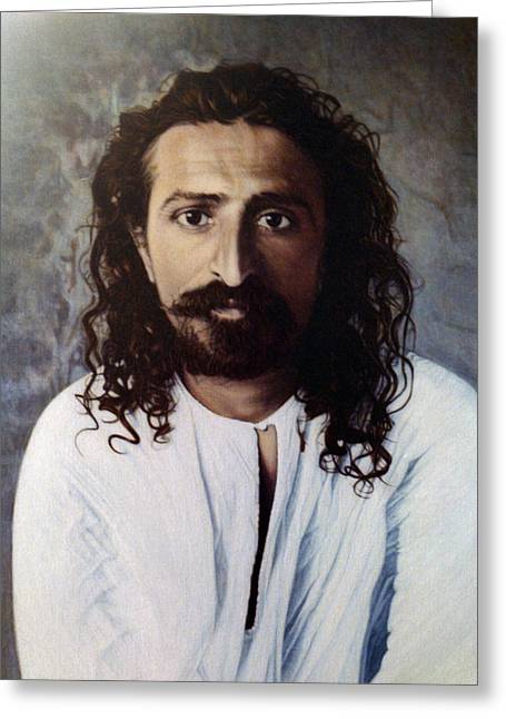 Baba Paintings Greeting Cards - Meher Baba 4 Greeting Card by Nad Wolinska