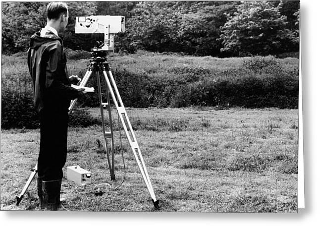 Mekometre Surveying, 1967 Greeting Card by National Physical Laboratory (c) Crown Copyright