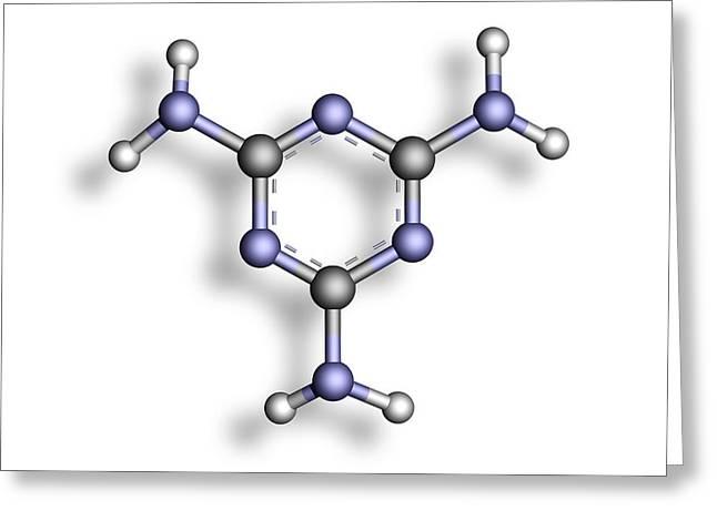 Melamine, Molecular Model Greeting Card by Pasieka