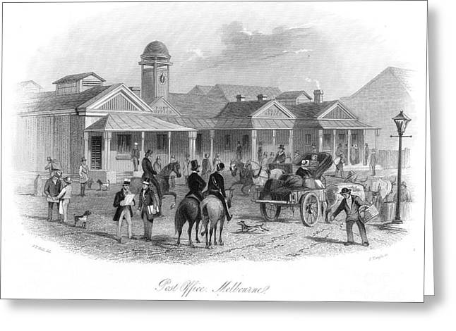 Daily Mail Greeting Cards - Melbourne Post Office 1856 Greeting Card by Granger