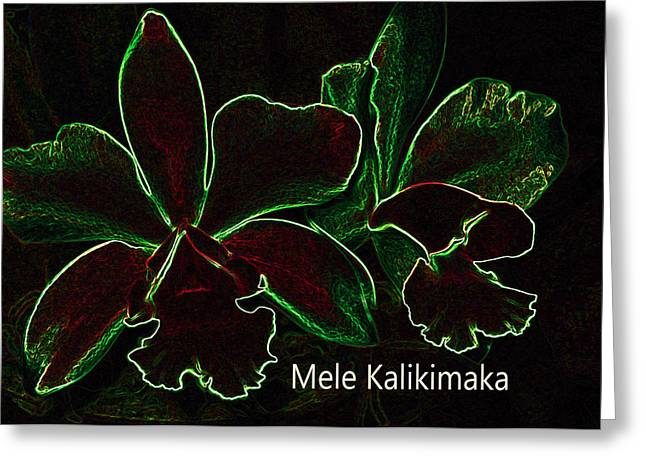 Mele Kalikimaka - Merry Christmas From Hawaii Greeting Card by Kerri Ligatich