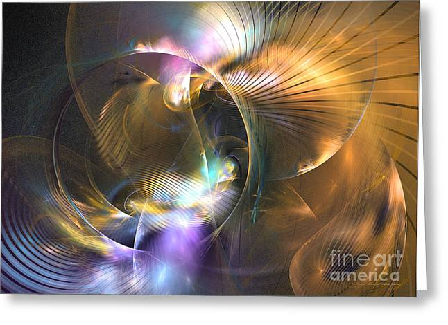 Mellow - Abstract Digital Art Greeting Card by Sipo Liimatainen