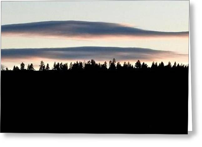 Striking Images Greeting Cards - Mellow Sky Panorama Greeting Card by Will Borden