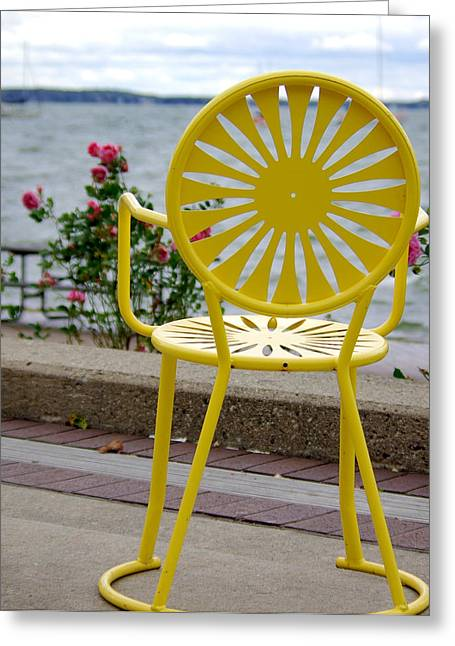 Union Terrace Greeting Cards - Mellow Yellow Greeting Card by Linda Mishler