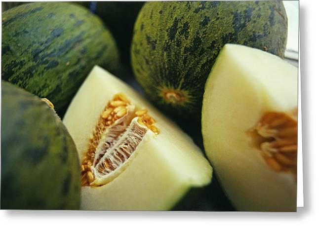 Melons Greeting Card by David Munns
