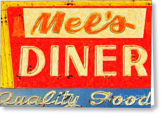 Fast Food Restaurant Greeting Cards - Mels Diner Greeting Card by Wingsdomain Art and Photography