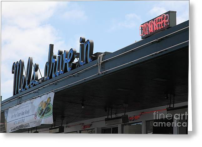 Mel's Drive-in Diner in San Francisco - 5D18042 Greeting Card by Wingsdomain Art and Photography
