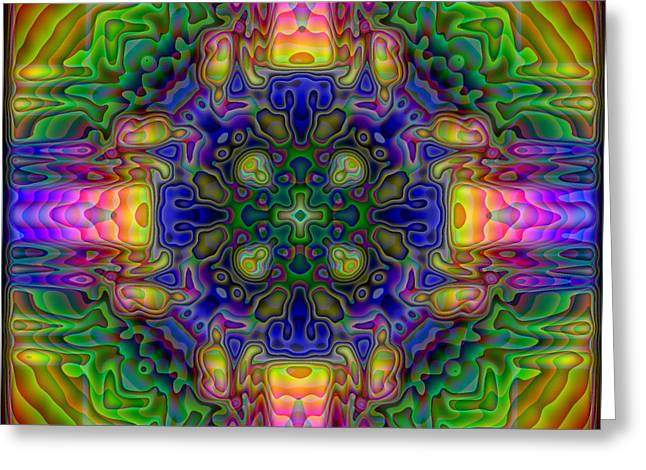 Kaleidoscope Greeting Cards - Melted Greeting Card by Lyle Hatch