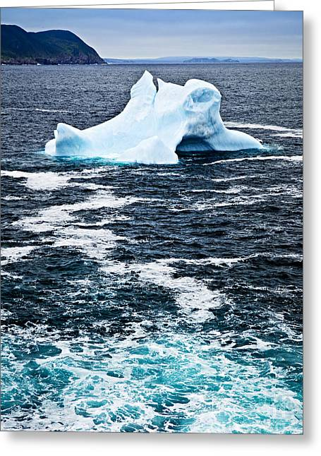 Snow Drifts Greeting Cards - Melting iceberg Greeting Card by Elena Elisseeva