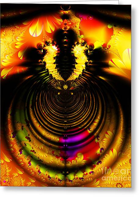 Surreal Geometric Greeting Cards - Melting Pot . Gold . S8a.S11 Greeting Card by Wingsdomain Art and Photography