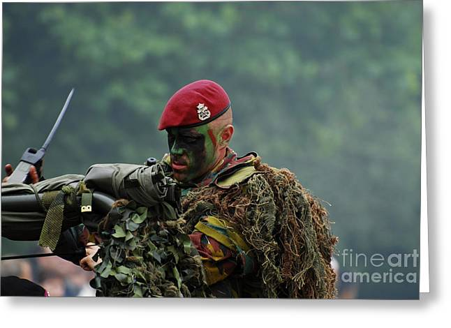 Component Greeting Cards - Members Of A Recce Or Scout Team Greeting Card by Luc De Jaeger