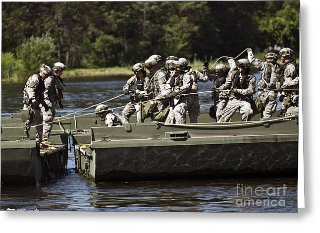 Mccoy Greeting Cards - Members Of The 341st Engineer Company Greeting Card by Stocktrek Images