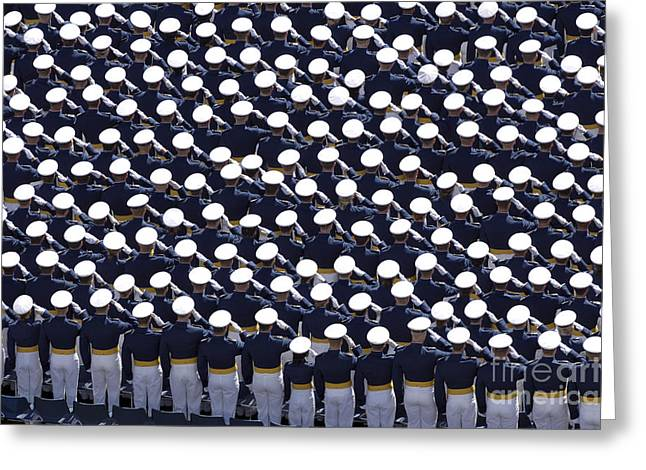 Cadet Greeting Cards - Members Of The U.s. Air Force Academy Greeting Card by Stocktrek Images