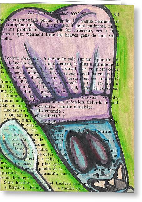 Cook Mixed Media Greeting Cards - Meme Le Sol Greeting Card by Jera Sky