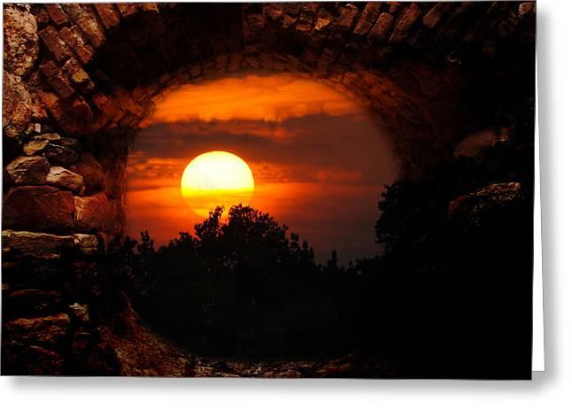 Memorable Greeting Cards - Memorable Sunset Greeting Card by Jai Johnson