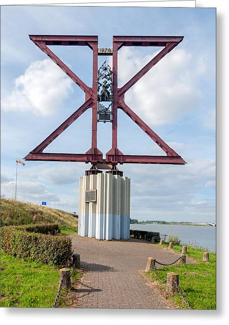 Moerdijk Greeting Cards - Memorial at the Moerdijk Bridge in the Netherlands Greeting Card by Ruud Morijn