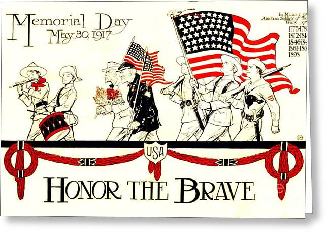 Memorial Day Greeting Card by Pg Reproductions