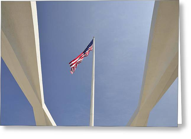 Memorial Flag Greeting Card by Andy Smy