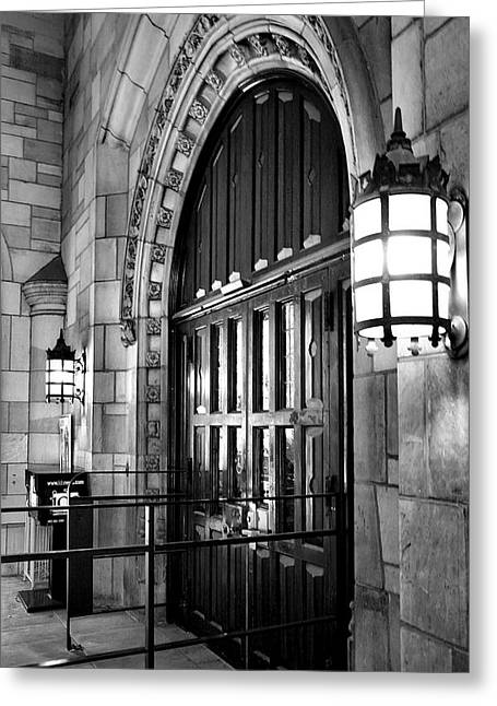 Student Housing Greeting Cards - Memorial Hall Entrance Greeting Card by Steven Ainsworth
