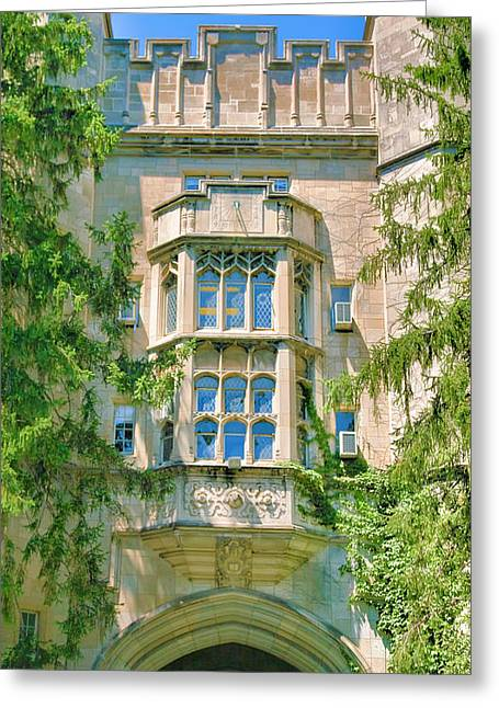 Bloomington Greeting Cards - Memorial Hall III Greeting Card by Steven Ainsworth